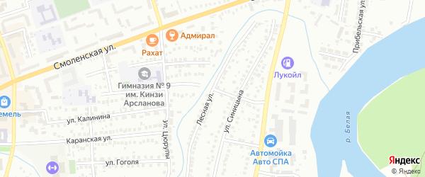 Лесная улица на карте Мелеуза с номерами домов
