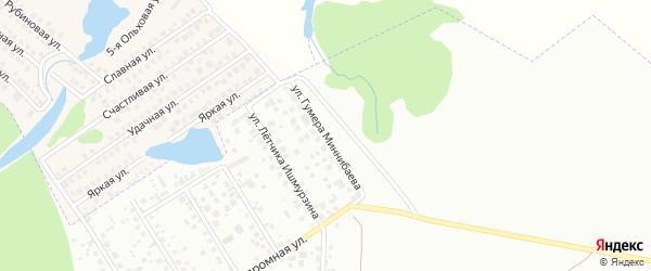 Улица Гумера Миннибаева на карте Уфы с номерами домов