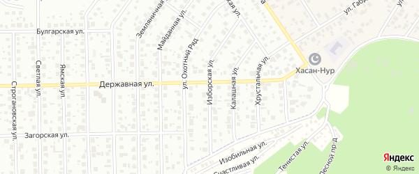 Изборская улица на карте Уфы с номерами домов