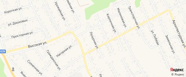 Лазурная улица на карте Благовещенска с номерами домов
