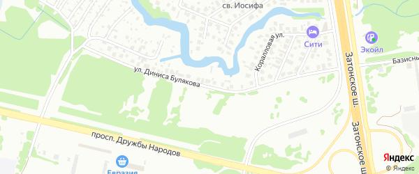 Улица Диниса Булякова на карте Уфы с номерами домов