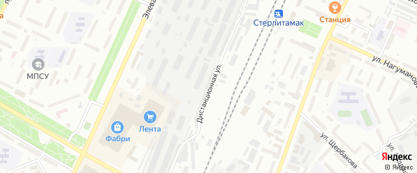 Дистанционная улица на карте Стерлитамака с номерами домов