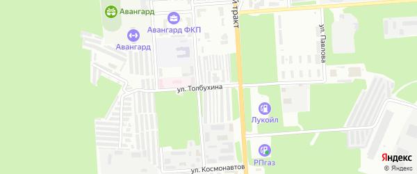 Улица Толбухина на карте Стерлитамака с номерами домов