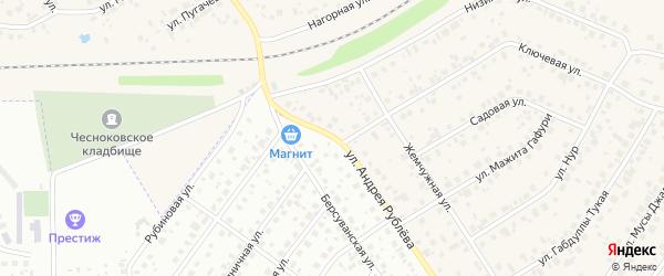 Улица Андрея Рублева на карте Уфы с номерами домов