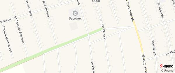 Улица Ишкинина на карте села Мишкино с номерами домов