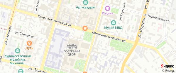Сквер Им Ленина на карте Октябрьского с номерами домов