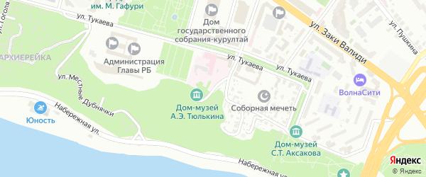 Волновая улица на карте Уфы с номерами домов