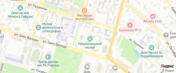 Советская улица на карте Уфы с номерами домов