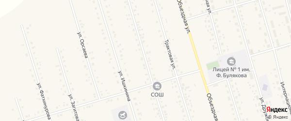 Улица Актуганова на карте села Мишкино с номерами домов