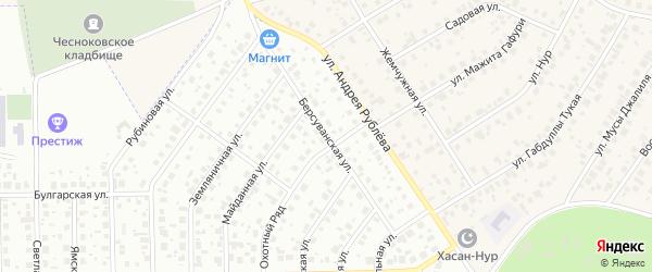 Берсуванская улица на карте Уфы с номерами домов