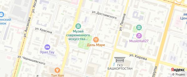 Улица Мустая Карима на карте Уфы с номерами домов