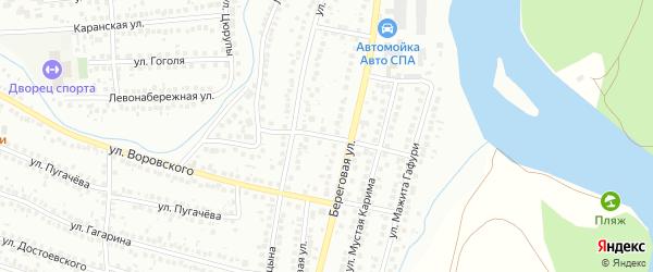 Улица Синицына на карте Мелеуза с номерами домов