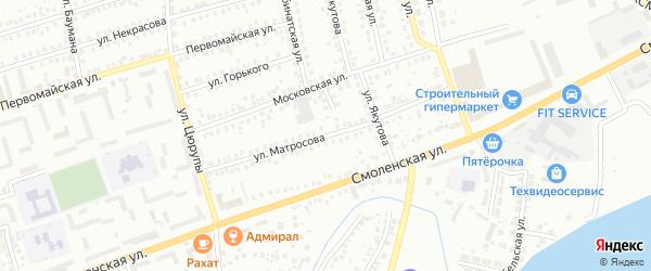 Улица Матросова на карте Мелеуза с номерами домов