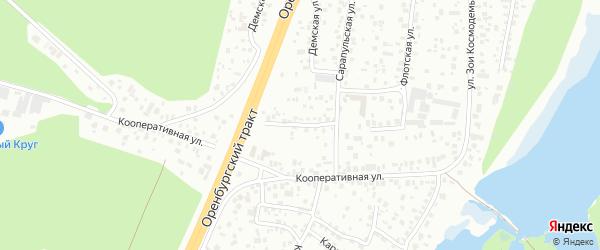 Красногорская улица на карте Уфы с номерами домов