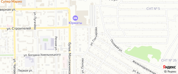Инициативная улица на карте Салавата с номерами домов
