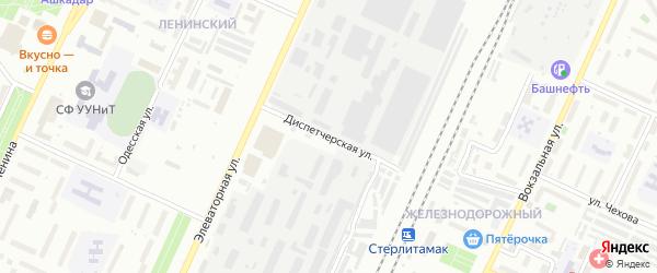 Диспетчерская улица на карте Стерлитамака с номерами домов