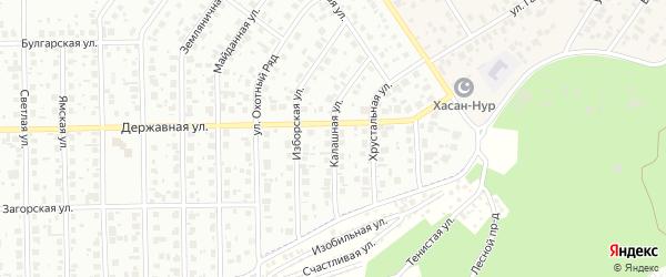 Калашная улица на карте Уфы с номерами домов