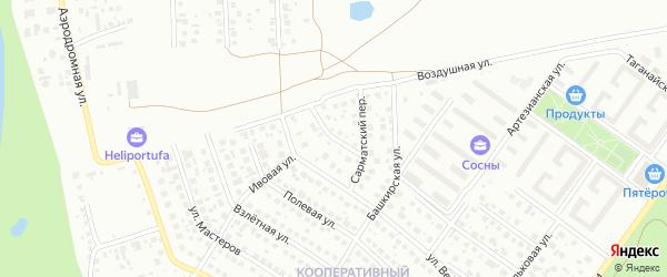 Нургушский переулок на карте Уфы с номерами домов