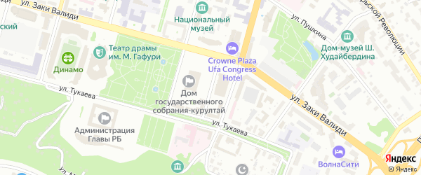 Улица Александра Матросова на карте Уфы с номерами домов