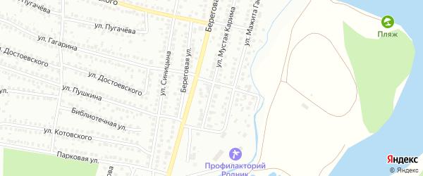Улица Мустая Карима на карте Мелеуза с номерами домов