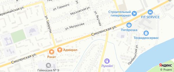 Смоленская улица на карте Мелеуза с номерами домов