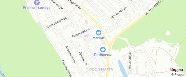 Улица Защитников Отечества на карте Уфы с номерами домов