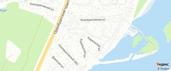 Карельская улица на карте Уфы с номерами домов