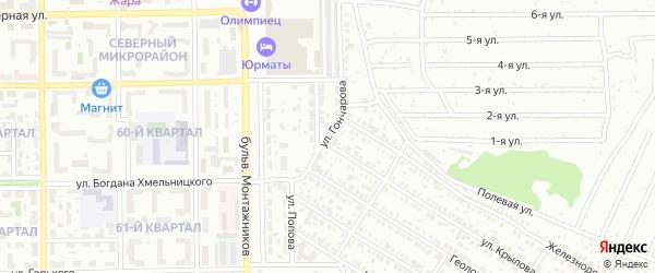 Улица Гончарова на карте Салавата с номерами домов
