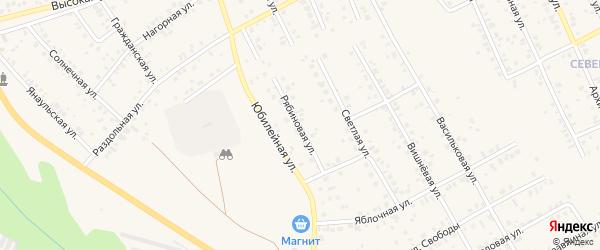 Рябиновая улица на карте Агидели с номерами домов