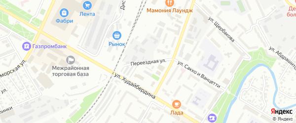 Переездная улица на карте Стерлитамака с номерами домов