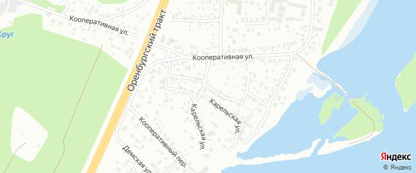 Малая Кооперативная улица на карте Уфы с номерами домов