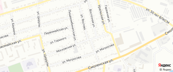 Улица Якутова на карте Мелеуза с номерами домов
