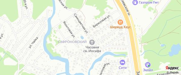 Самоцветная улица на карте Уфы с номерами домов
