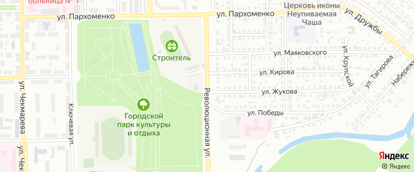 Революционная улица на карте Салавата с номерами домов