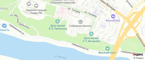 Улица Павлуновского на карте Уфы с номерами домов