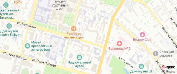 Советская площадь на карте Уфы с номерами домов