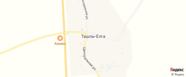 Октябрьская улица на карте деревни Ташлы-Елга с номерами домов