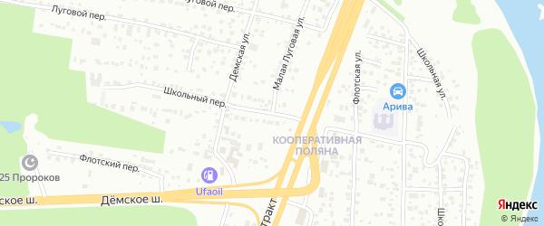 Школьный переулок на карте Уфы с номерами домов