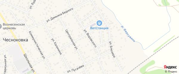 Улица Воровского на карте села Чесноковки с номерами домов
