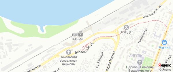 Привокзальная площадь на карте Уфы с номерами домов