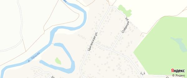 Цыганская улица на карте деревни Камышлы с номерами домов