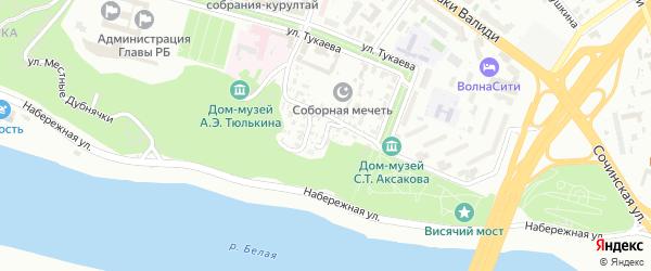 Труниловский переулок на карте Уфы с номерами домов
