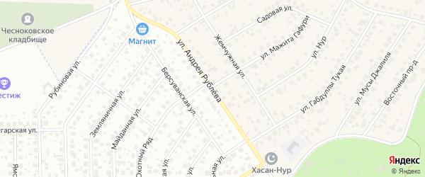 Южная улица на карте села Чесноковки с номерами домов