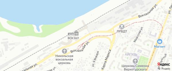 Вокзальная улица на карте Уфы с номерами домов