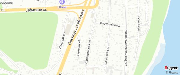 Сарапульская улица на карте Уфы с номерами домов