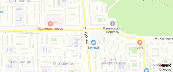 Улица Губкина на карте Салавата с номерами домов