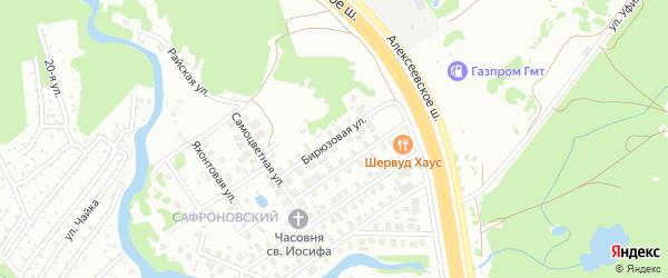 Бирюзовая улица на карте Уфы с номерами домов