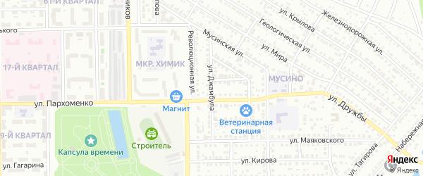 Улица Джамбула на карте Салавата с номерами домов