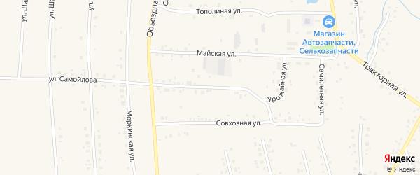 Улица Самойлова на карте села Мишкино с номерами домов