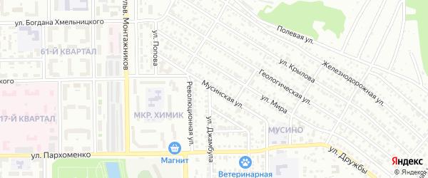 Мусинская улица на карте Салавата с номерами домов